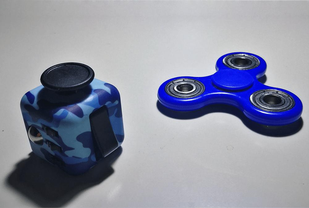 Fidget Cube y Fidget Spinner