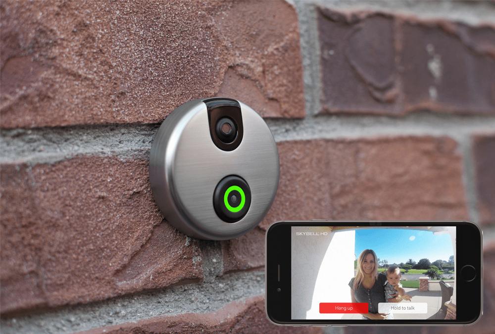 Skybell HD: timbre inteligente colocado en la fachada