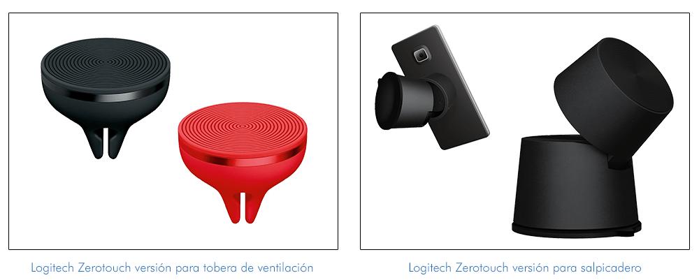 Logitech Zerotouch versión tobera de ventilación y salpicadero