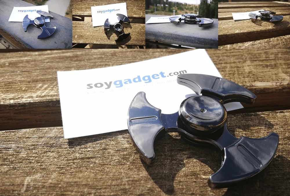 Varias fotos de un fidget spinner de aleación de titanio