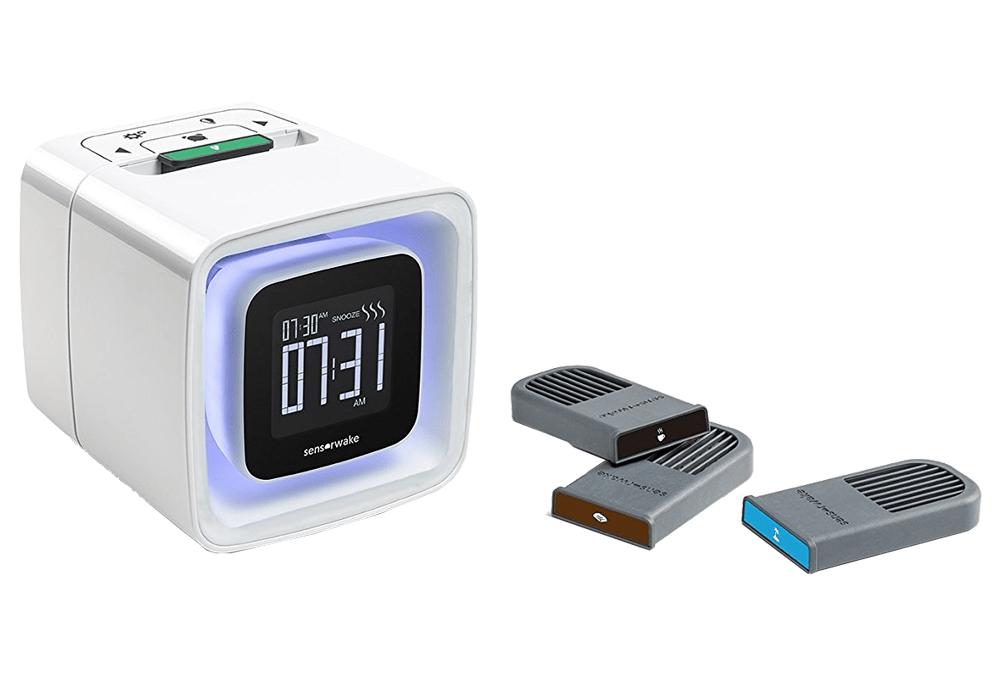 Despertador Sensorwake 2 y capsulas aromáticas.