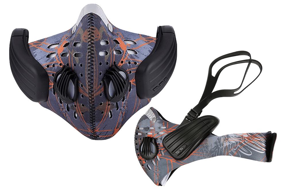Máscara antipolución con sistema de transmisión de sonido mediante conducción osea.